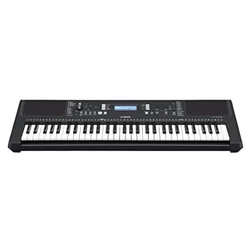 Yamaha PSR-E373 Digital Keyboard, schwarz – Vielseitiges Instrument mit 61 anschlagdynamischen Tasten – Einsteiger-Keyboard mit hochwertigen Instrumentenklängen