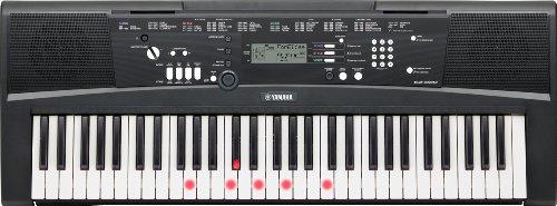 Yamaha Digital Keyboard EZ-220, schwarz – Portables Digital-Keyboard mit USB-to-Host-Anschluss – Keyboard mit 61 anschlagdynamischen Leuchttasten