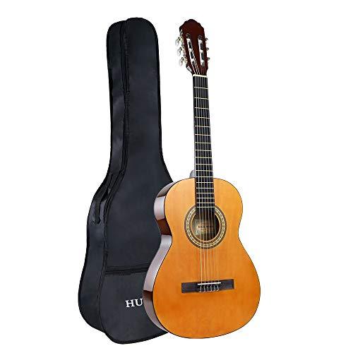 Konzertgitarre 36 Zoll Konzertgitarre 6 Nylonsaiten Akustikgitarre Kinder Starter 3/4 Größe Konzertgitarre mit Tasche