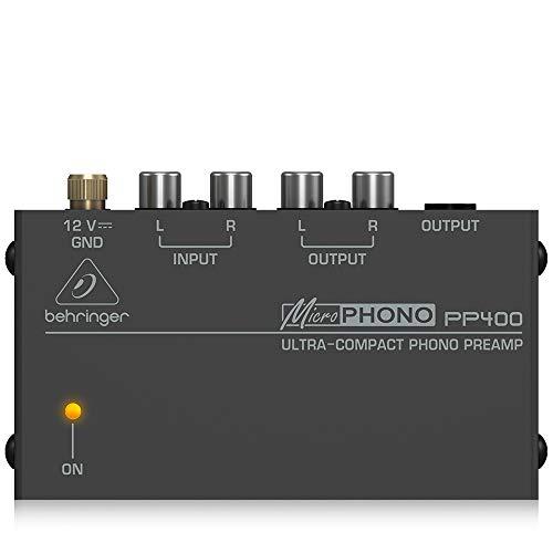 Behringer PP400 Mikrofon Plattenspieler Vorverstärker, Schwarz