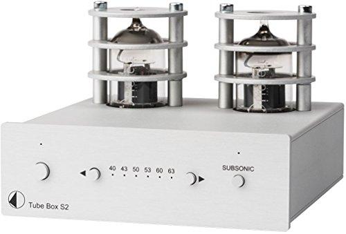 Pro-Ject Tube Box S2, High End Röhren Phono-Vorverstärker (Silber)