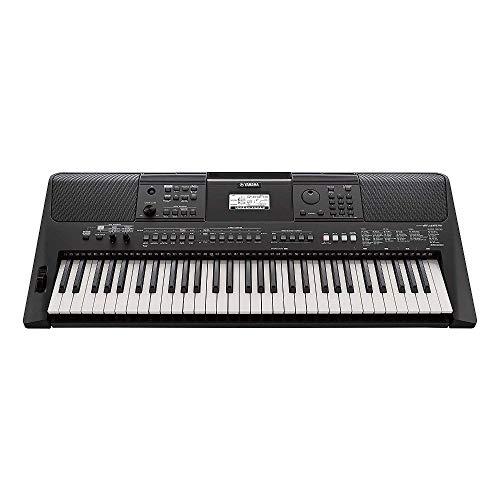 Yamaha PSR-E463 Keyboard, schwarz – Tragbares Digital Keyboard für Anfänger – 61 Tasten & verschiedene Musikstile
