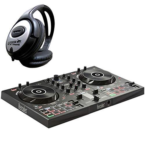 Hercules DJControl Inpulse 300 2-Deck DJ Controller + keepdrum Kopfhörer