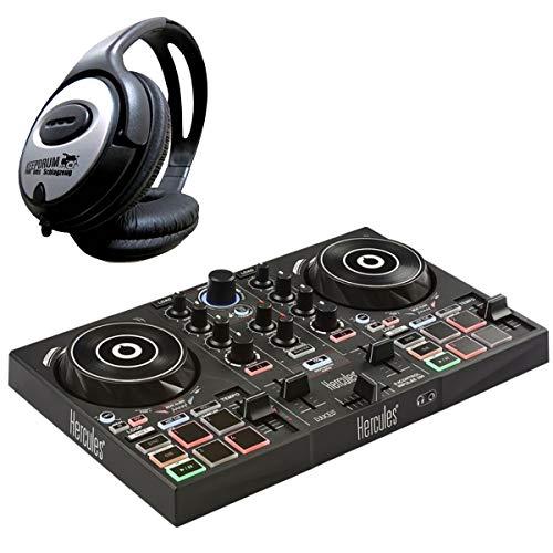 Hercules DJControl Inpulse 200 2-Deck DJ Controller + keepdrum Kopfhörer