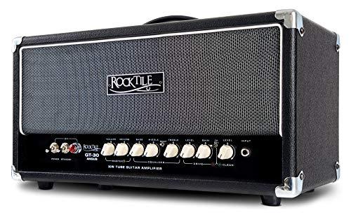Rocktile GT-30 Angus Vollröhren Gitarrenverstärker Topteil (30 Watt, 2 Kanäle (Clean/Drive), Effektschleife, 3-Band-EQ und Reverb, Ausgänge für 1 oder 2 Boxen)